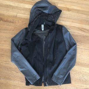 Gray Fall Hooded Jacket